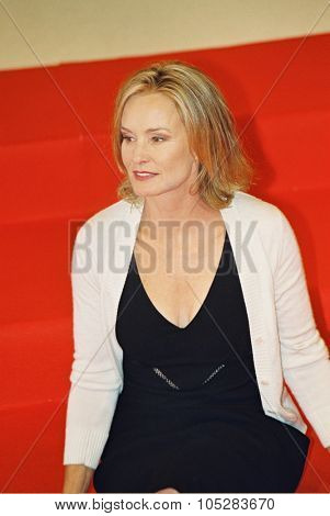 DEAUVILLE, FRANCE - SEPTEMBER 10: Actress Jessica Lange attends the photocall of 'Normal' at the 29th American Film Festival of Deauville September 10, 2003 in Deauville, France.