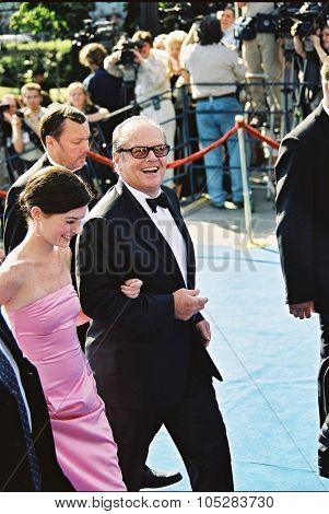 MOSCOW - JUNE 21: Jack Nicholson and Lara Flynn Boyle  arrives for closing ceremony  the 23th Moscow International Film Festival on June 21, 2001 in Moscow, Russia
