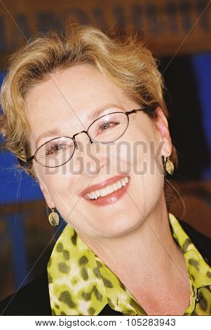 MOSCOW - JUNE 25 : Meryl Streep attends the press conference at the International Moscow Film Festival on June 25, 2004 in Moscow, Russia.