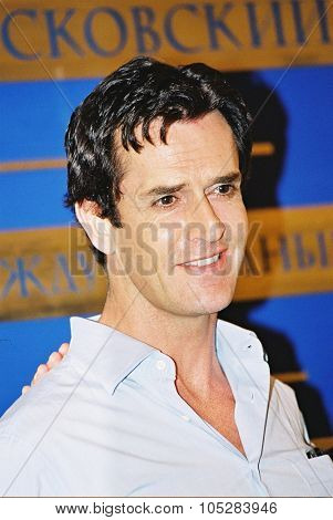 MOSCOW - JUNE 23 : Rupert Everett attends the press conference at the International Moscow Film Festival on June 23, 2004 in Moscow, Russia.