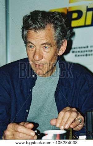 MOSCOW - JULY 22 : Ian McKellen attends the press conference at the 21th International Moscow Film Festival on July 22, 1999 in Moscow, Russia.