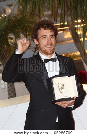 CANNES, FRANCE - MAY 23: Italian actor Elio Germano attends the Palme d'Or Award Ceremony Photo Call held at the Palais  during the 63rd  Cannes Film Festival on May 23, 2010 in Cannes, France