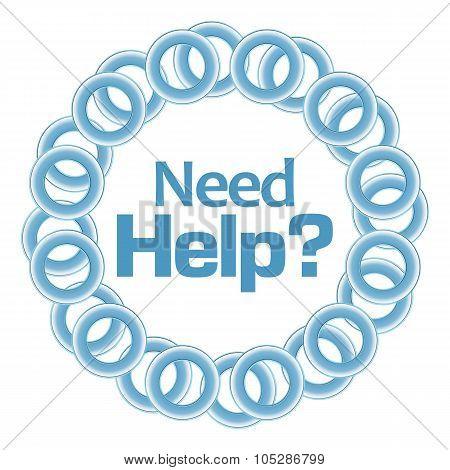 Need Help Text Inside Blue Rings Circular