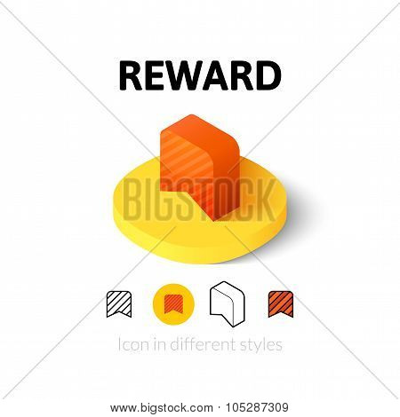 Reward icon in different style