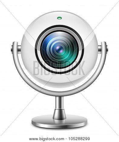 Realistic Web Camera Icon
