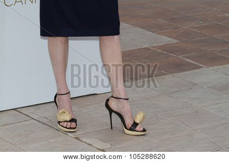 CANNES, FRANCE - MAY 12: Tilda Swinton attends the 'We Need To Talk About Kevin' photocall during the 64th Annual Cannes Film Festival at Palais des Festivals on May 12, 2011 in Cannes, France.