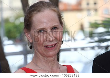 CANNES, FRANCE - MAY 17: Kati Outinen attends the 'Le Havre' photocall at the Palais des Festivals during the 64th Cannes Film Festival on May 17, 2011 in Cannes, France