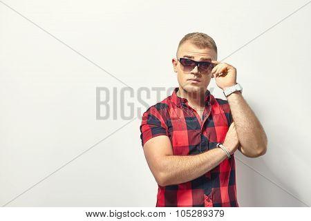 Surprised Man In Sunglasses