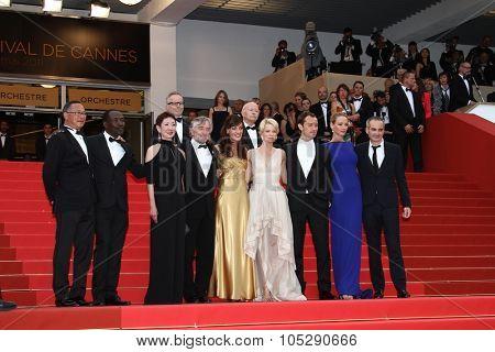 CANNES, FRANCE - MAY 22: Jury Members attend the 'Les Bien-Aimes' premiere at the Palais des Festivals during the 64th Cannes Film Festival at Palais des Festivals on May 22, 2011 in Cannes, France.