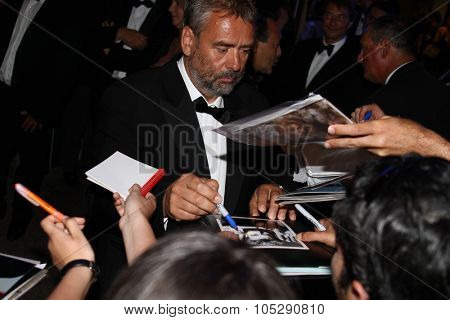 CANNES, FRANCE - MAY 22: Luc Besson attends the Palme D'Or Winners Dinner at the Palais des Festivals during the 64th Cannes Film Festival on May 22, 2011 in Cannes, France