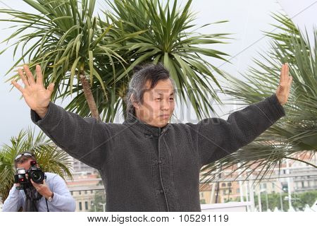CANNES, FRANCE - MAY 13: Director Kim Ki-Duk attends the 'Arirang' photocall during the 64th Annual Cannes Film Festival on May 13, 2011 in Cannes, France.
