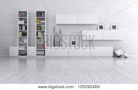 Interior Of A Room With Sideboard 3d rendering