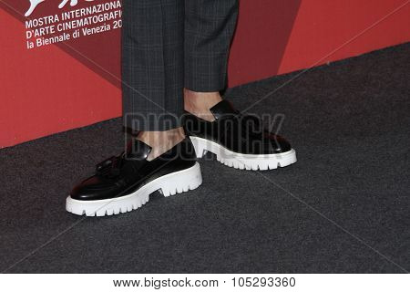 VENICE, ITALY - SEPTEMBER 05: Actor Andy Lau (shoes detail) poses at the 'Tao Jie' photocall during the 68th Venice Film Festival at Palazzo del Cinema on September 5, 2011 in Venice, Italy