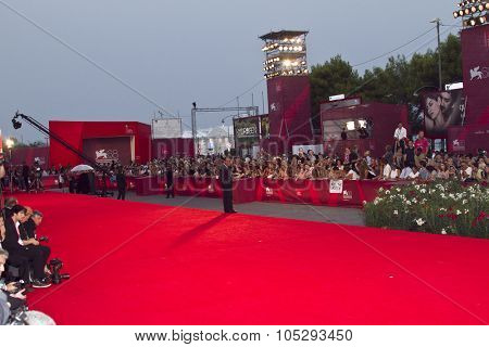 VENICE, ITALY - SEPTEMBER 08: Preparations ahead of the 68th Venice Film Festival at the Palazzo Del Casino on September 08, 2011 in Venice, Italy.