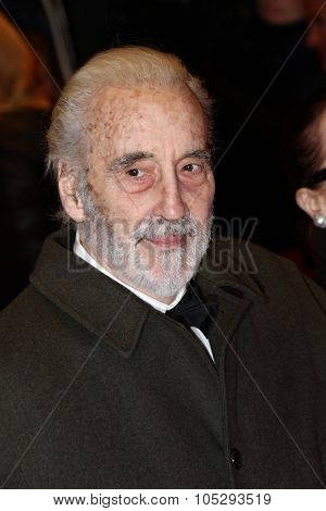 BERLIN, GERMANY - FEBRUARY 09: Christopher Lee attends the 'Les Adieux De La Reine' Premiere during  of the 62nd Berlin Film Festival at the Berlinale Palast on February 9, 2012 in Berlin, Germany.