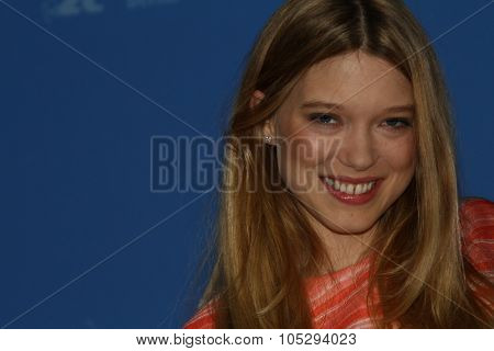 BERLIN, GERMANY - FEBRUARY 13: Actress Lea Seydoux attends the 'L'Enfant d'en haut' Photocall during of the 62nd Berlin  Film Festival at the Grand Hyatt on February 13, 2012 in Berlin, Germany