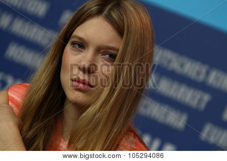 BERLIN, GERMANY - FEBRUARY 13: Actress Lea Seydoux attends the 'L'Enfant d'en haut' Press Conference during of the 62nd Berlin Film Festival at the Grand Hyatt on February 13, 2012 in Berlin, Germany