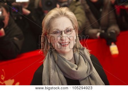 BERLIN, GERMANY - FEBRUARY 14: Actress Meryl Streep attends 'The Iron Lady' Premiere during of the 62nd Berlin International Festival at the Berlinale Palast on February 14, 2012 in Berlin, Germany.