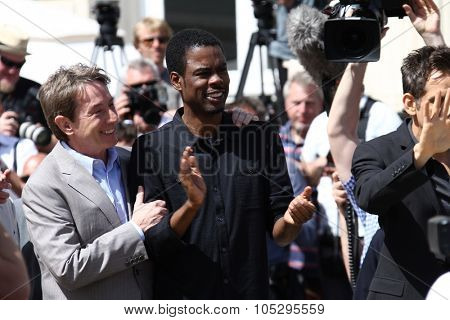 CANNES, FRANCE - MAY 17: Chris Rock and Martin Short attends the 'Madagascar 3' cannes photocall during the 65th  Cannes Film Festival on May 17, 2012 in Cannes, France.