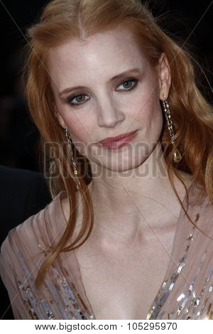 CANNES, FRANCE - MAY 19: Jessica Chastain attends the 'Lawless' Premiere attends the 'Lawless' Premiere during the 65th  Cannes  Festival at Palais des Festivals on May 19, 2012 in Cannes, France.