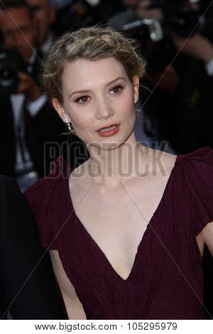 CANNES, FRANCE - MAY 19: Mia Wasikowska  attends the 'Lawless' Premiere attends the 'Lawless' Premiere during the 65th  Cannes  Festival at Palais des Festivals on May 19, 2012 in Cannes, France.