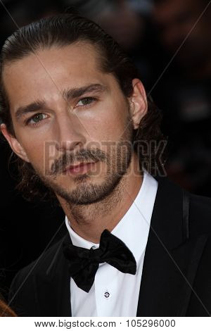 CANNES, FRANCE - MAY 19: Shia LaBeouf attends the 'Lawless' Premiere attends the 'Lawless' Premiere during the 65th  Cannes  Festival at Palais des Festivals on May 19, 2012 in Cannes, France.