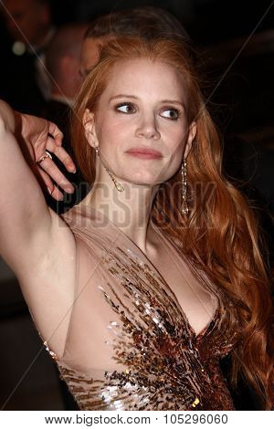 CANNES, FRANCE - MAY 19: Actress Jessica Chastain attends the 'Lawless' Premiere during the 65th Annual Cannes Film Festival at Palais des Festivals on May 19, 2012 in Cannes, France.