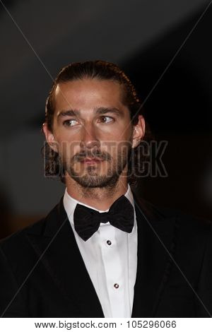 CANNES, FRANCE - MAY 19: Shia LaBeouf attends the 'Lawless' Premiere during the 65th Annual Cannes Film Festival at Palais des Festivals on May 19, 2012 in Cannes, France.