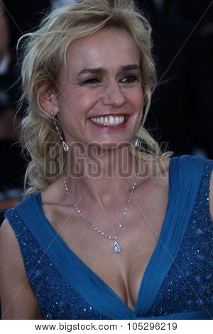 CANNES, FRANCE - MAY 22:  Sandrine Bonnaire attends the 'Killing Them Softly' Premiere during 65th Annual Cannes Film Festival at Palais des Festivals on May 22, 2012 in Cannes, France.