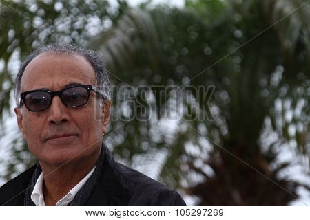 CANNES, FRANCE - MAY 21: Director Abbas Kiarostami poses at the 'Like Someone in Love' photocall during the 65th  Cannes Film Festival at Palais des Festivals on May 21, 2012 in Cannes, France.