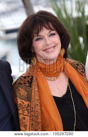 CANNES, FRANCE - MAY 21: Anny Duperey poses at 'Vous N'avez Encore Rien Vu' Photocall during the 65th Annual Cannes Film Festival at Palais des Festivals on May 21, 2012 in Cannes, France.