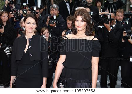 CANNES, FRANCE - MAY 21: Marina Hands French culture minister Aurelie Filippetti attend the 'Vous N'avez Encore Rien Vu'  during the 65th Cannes Festival at Palais on May 21, 2012 in Cannes, France.
