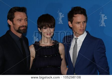 BERLIN, GERMANY - FEBRUARY 09: Anne Hathaway, Hugh Jackman attend the 'Les Miserables' Photocall during the 63rd Berlinale  Film Festival at Grand Hyatt Hotel on February 9, 2013 in Berlin, Germany