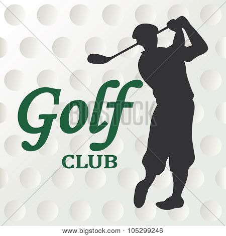 Golf club sign - vector illustration