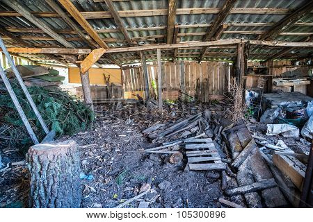 Old Shed Full Of Junk And Antiques