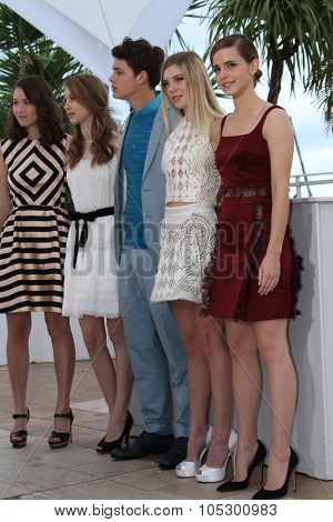 CANNES, FRANCE - MAY 16: Actress Emma Watson attends 'The Bling Ring' photocall during the 66th  Cannes Film Festival at Palais des Festival on May 16, 2013 in Cannes, France.