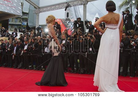 CANNES, FRANCE - MAY 19: A general view of atmosphere Palais des Festivals on during the 66th Annual Cannes Film Festival on May 19, 2013 in Cannes, France.