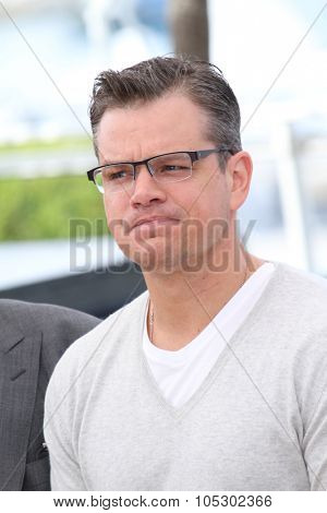 CANNES, FRANCE - MAY 21:  Matt Damon attends the 'Behind The Candelabra' Photocall during The 66th Cannes Film Festival at the Palais des Festivals on May 21, 2013 in Cannes, France.