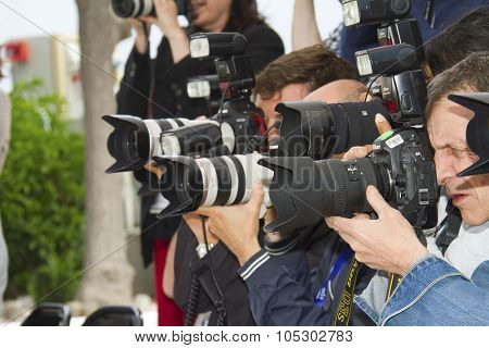 CANNES, FRANCE - MAY 24: Photographers attend the photocall for 'Michael Kohlhaas' at The 66th Annual Cannes Film Festival at Palais des Festivals on May 24, 2013 in Cannes, France.