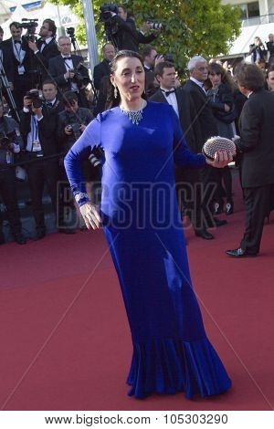 CANNES, FRANCE - MAY 25: Rossy de Palma arrives at 'Venus In Fur' Premiere during the 66th Annual Cannes Film Festival at Grand Theatre Lumiere on May 25, 2013 in Cannes, France.
