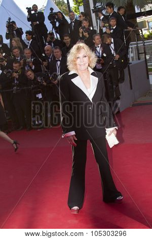 CANNES, FRANCE - MAY 25: Kim Novak arrives at 'Venus In Fur' Premiere during the 66th Annual Cannes Film Festival at Grand Theatre Lumiere on May 25, 2013 in Cannes, France.