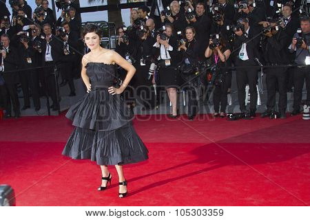 CANNES, FRANCE - MAY 25: Audrey Tautou arrives at 'Venus In Fur' Premiere during the 66th Annual Cannes Film Festival at Grand Theatre Lumiere on May 25, 2013 in Cannes, France.