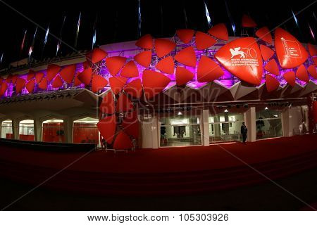 VENICE, ITALY - AUGUST 30: Preparations ahead of the  Venice Film Festival at the Palazzo Del Casino on August 30, 2013 in Venice, Italy.