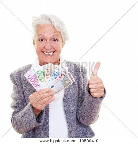 Senior Woman With Money