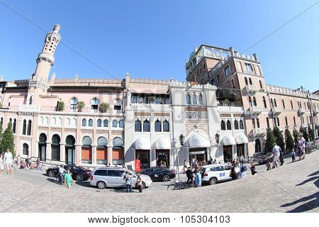 VENICE, ITALY - SEPTEMBER 01:  A general view of atmosphere Hotel Excelsior during the 70th Venice Film Festival at the Palazzo  on September 1, 2013 in Venice, Italy.