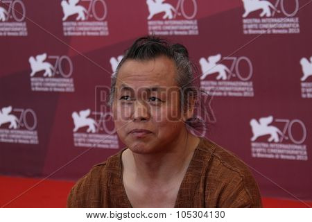 VENICE, ITALY - SEPTEMBER 03: Kim Ki-Duk  attends 'Harlock: Space Pirate' Photocall during the 70th Venice Film Festival at Palazzo del Casino on September 3, 2013 in Venice, Italy.