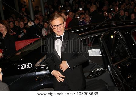 BERLIN, GERMANY - FEBRUARY 15: Christoph Waltz arrives for the closing ceremony during 64th Berlinale  Festival at Berlinale Palast on February 15, 2014 in Berlin, Germany.