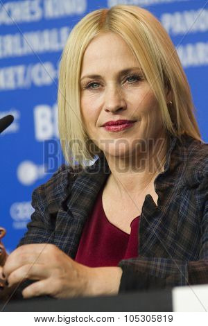 BERLIN, GERMANY - FEBRUARY 13: Patricia Arquette attends the 'Boyhood' press conference during 64th Berlinale International Film Festival at Grand Hyatt Hotel on February 13, 2014 in Berlin, Germany.