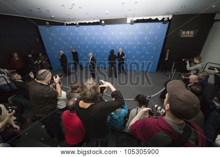 BERLIN, GERMANY - FEBRUARY 12: Director Volker Schloendorff attends the 'Diplomatie' photocall during 64th Berlinale Film Festival at Grand Hyatt Hotel on February 12, 2014 in Berlin, Germany.