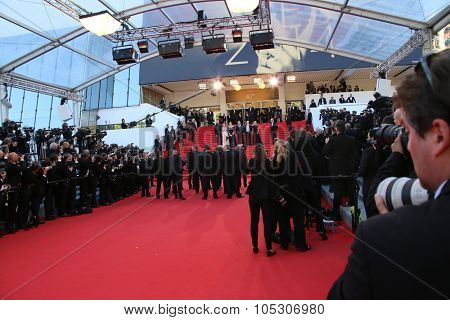 CANNES, FRANCE - MAY 15: Photographer  attend the 'Mr.Turner' Premiere at the 67th Annual Cannes Film Festival on May 15, 2014 in Cannes, France.
